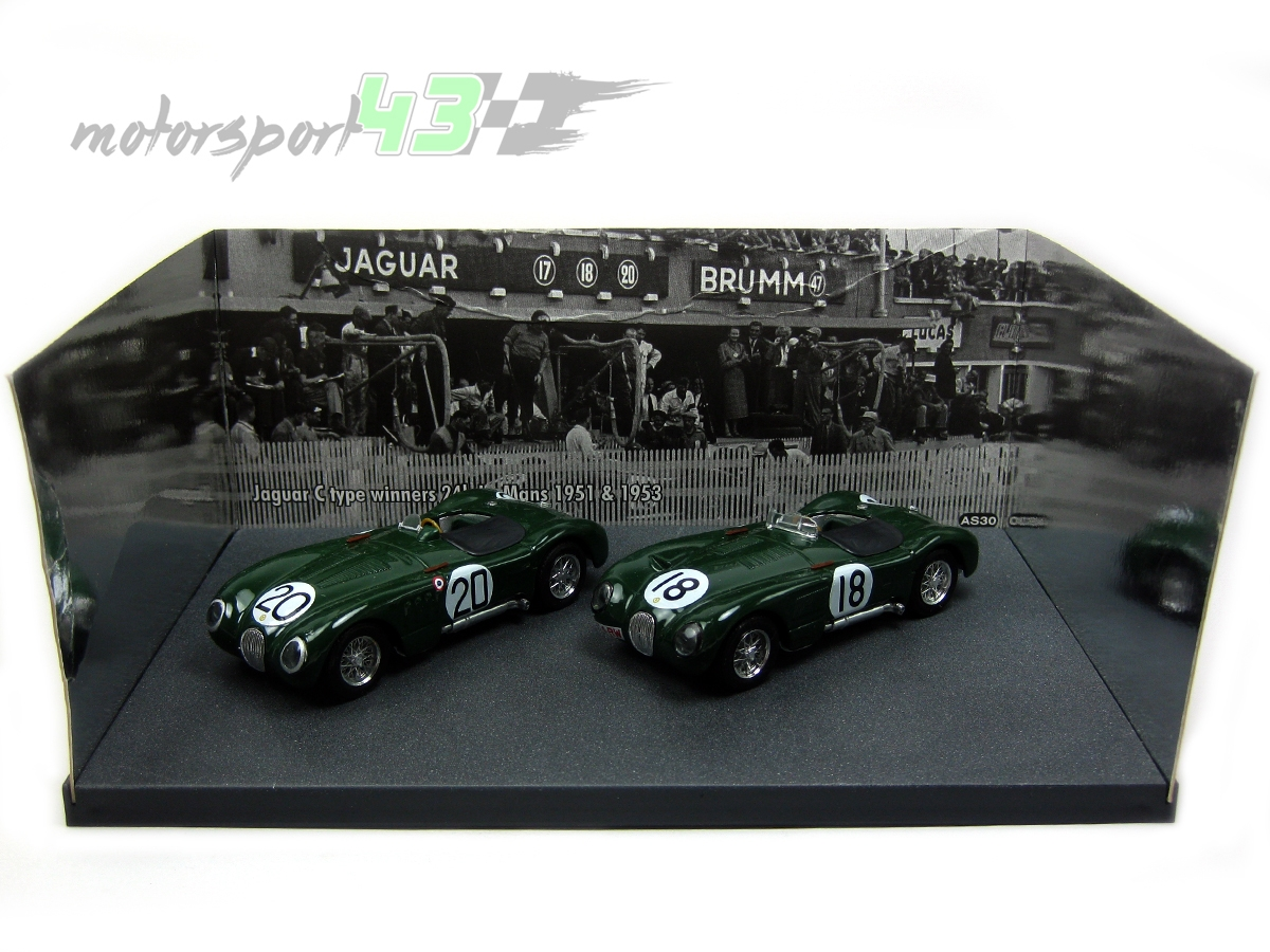 Jaguar C Type Set 1º 24h. Le Mans 1951 #20 y 1953 #18