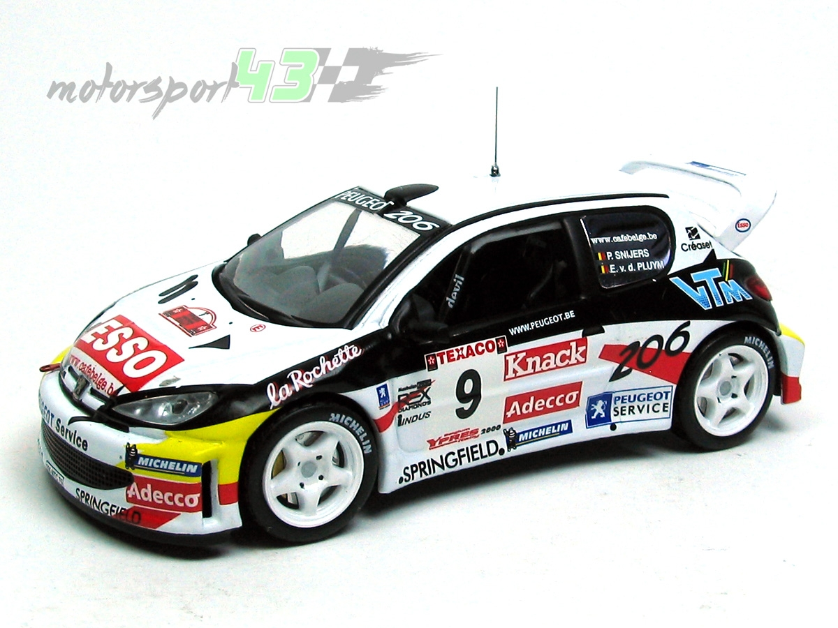 Peugeot 206 WRC Rally Ypres 2000 #9