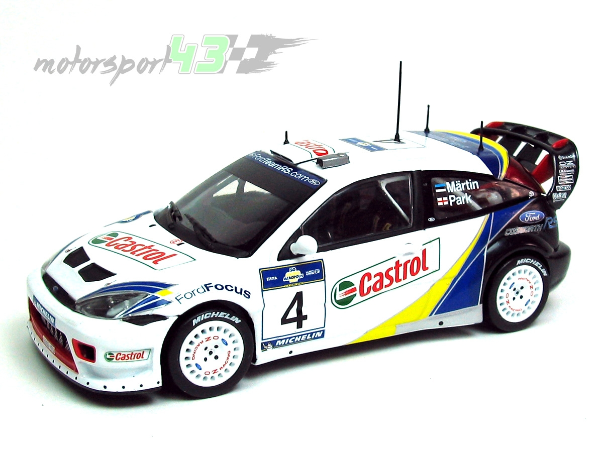 Ford Focus RS WRC Rally Acropolis 2003 #4